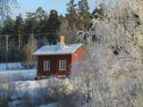 Myllärin sauna talvella