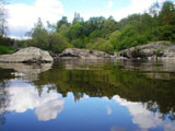 Tyyni joki kesällä
