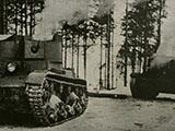 Tuhottuja venäläisiä T-26 panssarivaunuja
